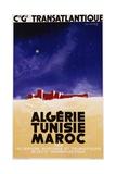 Algerie - Tunisie - Maroc Travel Poster Reproduction procédé giclée par Jan Auvigne