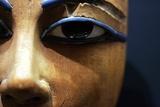 Detail of Eyes in Egyptian Wooden Coffin Lámina fotográfica