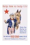 Help Him to Help U.S.! Poster Giclée-tryk af James Montgomery Flagg
