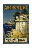 Anchor Line Travel Poster Giclée-Druck von W. Welsh