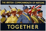The British Commonwealth of Nations - Together Poster Reproduction photographique