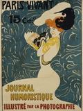 Paris Vivant Poster Fotografisk trykk av Edmond Marie Petitjean