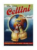 Vini Tipici Cellini Wine Advertisement Poster Giclée-Druck