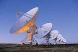 Radio Telescope Array at Dawn Photographic Print by Roger Ressmeyer