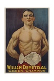 William Demetral Greek Champion Poster Giclee Print