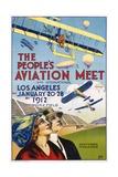 The People's Aviation Meet Poster Reproduction procédé giclée