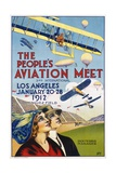 The People's Aviation Meet Poster Giclee Print