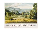 The Cotswolds Poster Reproduction procédé giclée