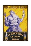 Auga De Fuente En Segures Bottled Water Poster Giclee Print by F. Mellado