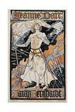 Jeanne D'Arc - Sarah Bernhardt Theater Poster Giclee Print by Eugene Grasset