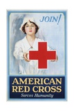 Join! American Red Cross Serves Humanity Poster Giclee Print by Lawrence Wilbur