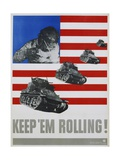 Keep 'Em Rolling! Poster Giclee Print by Leo Lionni