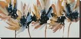 Sepia Flurry II Stretched Canvas Print by Lilian Scott