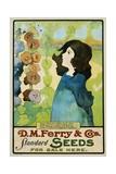 D.M. Ferry and Co's Standard Seeds Poster Giclée-tryk