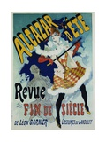 Alcazar D'Ete - Revue Fin De Siecle Cabaret Poster Impressão giclée por Jules Chéret