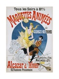 Maquettes Animees De Georges Bertrand Poster Impressão giclée por Jules Chéret