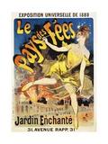 Le Pays Des Fees Poster Giclée-Druck von Jules Chéret