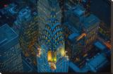 Sky View New York I Bedruckte aufgespannte Leinwand von Jason Hawkes