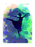 Ballerina's Dance Watercolor 2 Kunst van Irina March