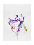 Romantic Ballet Watercolor 2 Schilderijen van Irina March