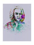 Bach Watercolor Kunst von Anna Malkin