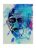 Gandhi Watercolor Plakater af Anna Malkin