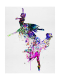 Ballet Watercolor 3 Posters van Irina March