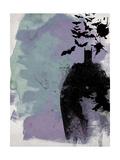 Batman Watercolor Premium Giclee-trykk av Anna Malkin