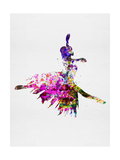 Ballerina on Stage Watercolor 4 Print by Irina March