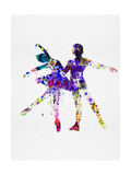 Ballet Dancers Watercolor 2 Print by Irina March