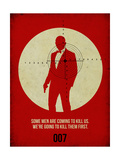 James Poster Red 3 Print by Anna Malkin