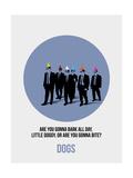 Dogs Poster 1 Kunst von Anna Malkin