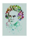 Beethoven Watercolor Kunstdrucke von Anna Malkin