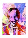 Nelson Mandela Watercolor Poster von Anna Malkin
