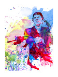 Scar Watercolor Premium Giclee-trykk av Anna Malkin