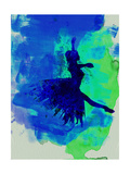 Ballerina on Stage Watercolor 5 Posters van Irina March