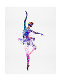 Ballerina Dancing Watercolor 2 Poster von Irina March