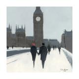 Big Ben, Red Beret And Snow Giclée-tryk af Jon Barker