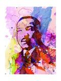 Martin Luther King Watercolor Poster von Anna Malkin