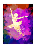 Flying Ballerina Watercolor 2 Poster van Irina March