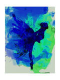 Ballerina on Stage Watercolor 2 Poster van Irina March