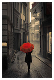 Red Rain Prints by Stefano Corso