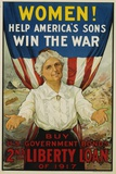 Women! Help America's Sons Win the War Poster Photographic Print by R.H. Porteous
