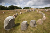 Viking Burial Ground with Stones Placed in Oval Outline of a Viking Ship Fotografie-Druck von Stuart Black