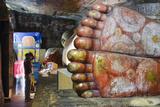 Buddha Statues in Cave 1 Fotografie-Druck von Christian Kober
