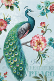 Blue Feathered Peacock I Prints by Lisa Audit