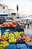 Fresh Fruit Stalls and Statue of Ivan Gundulic Lámina fotográfica por Matthew Williams-Ellis