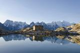 Lac Blanc, Mont Blanc and Aiguilles De Chamonix, Chamonix, Haute-Savoie, French Alps Impressão fotográfica por Christian Kober