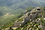 Chateau De Peyrepertuse, a Cathar Castle, Languedoc, France, Europe Reproduction photographique par Tony Waltham