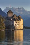 The Castle of Chillon, on Lake Geneva, Montreux, Canton Vaud, Switzerland, Europe Impressão fotográfica por Angelo Cavalli